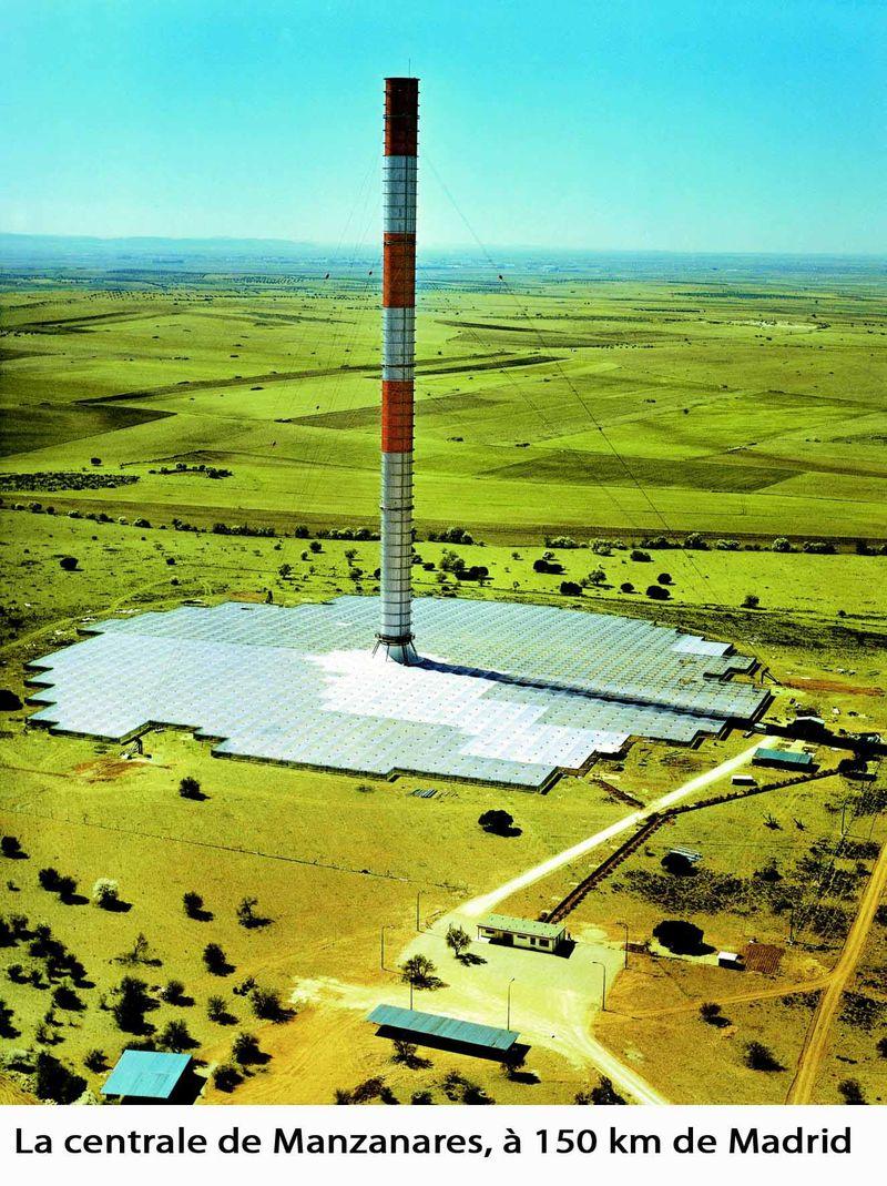 Le prototype de cheminées solaire de Manzanares en espagne